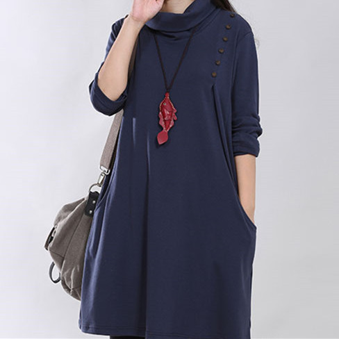 High Neck Knitted Cotton Maternity Dress For the Modern Mother-To-Be   Spring 2017 Collections