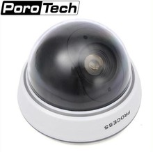 Fake Camera Battery Powered Flicker Blinking LED Indoor Dummy Security Camera CCTV Dome Camera