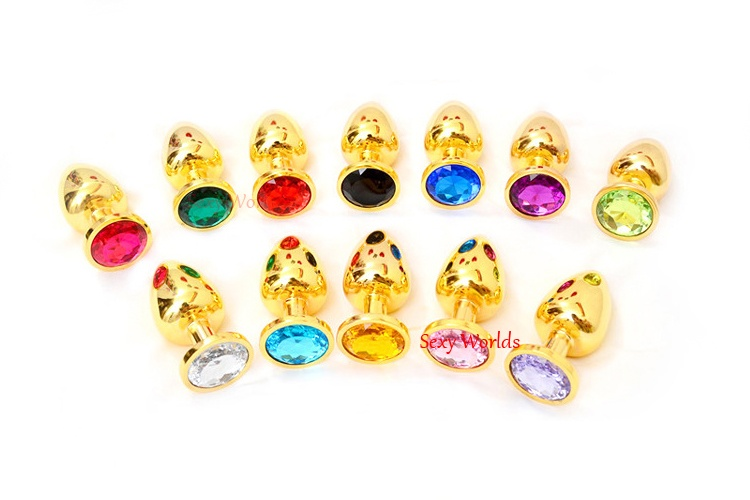 539e07a5c السلس الذهبي الفولاذ المقاوم للصدأ الغنيمة الخرز المعادن الشرج ألعاب جنسية  للنساء الرجال بعقب المكونات دسار مختلفة اللون الكريستال