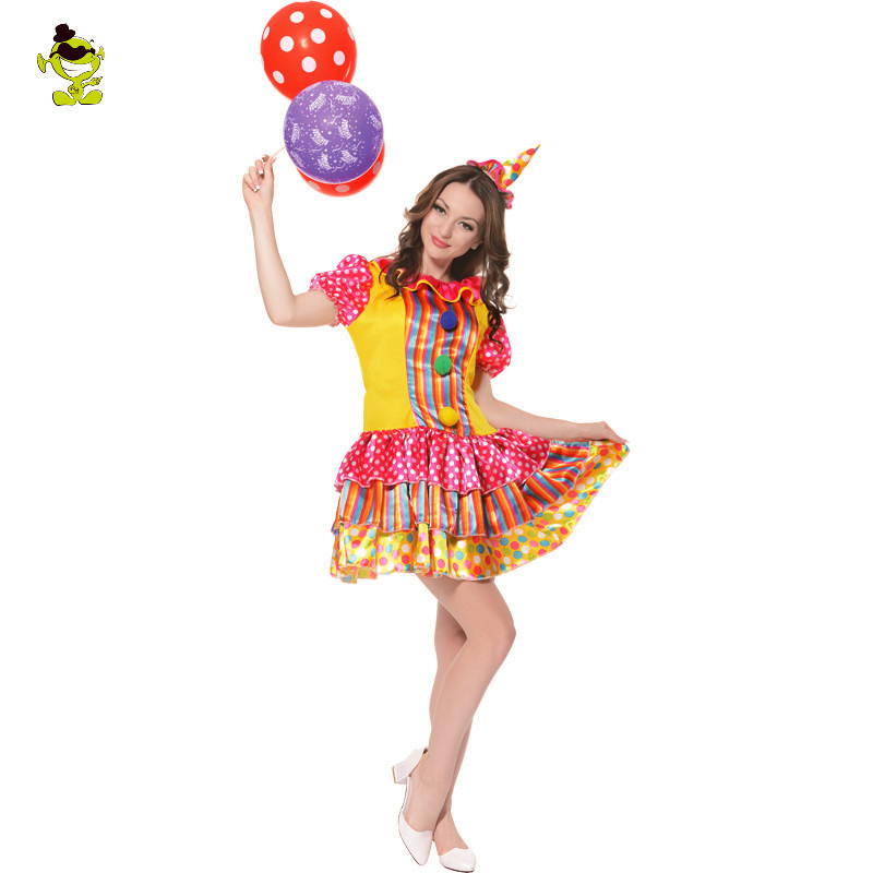 Pretty Parisian Clown Adult Costume