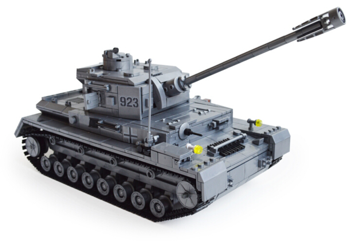 AIBOULLY Century German armored military Tank Cannon mini  Building Blocks Toys Type F2 Model 82010 Christmas Toys купить