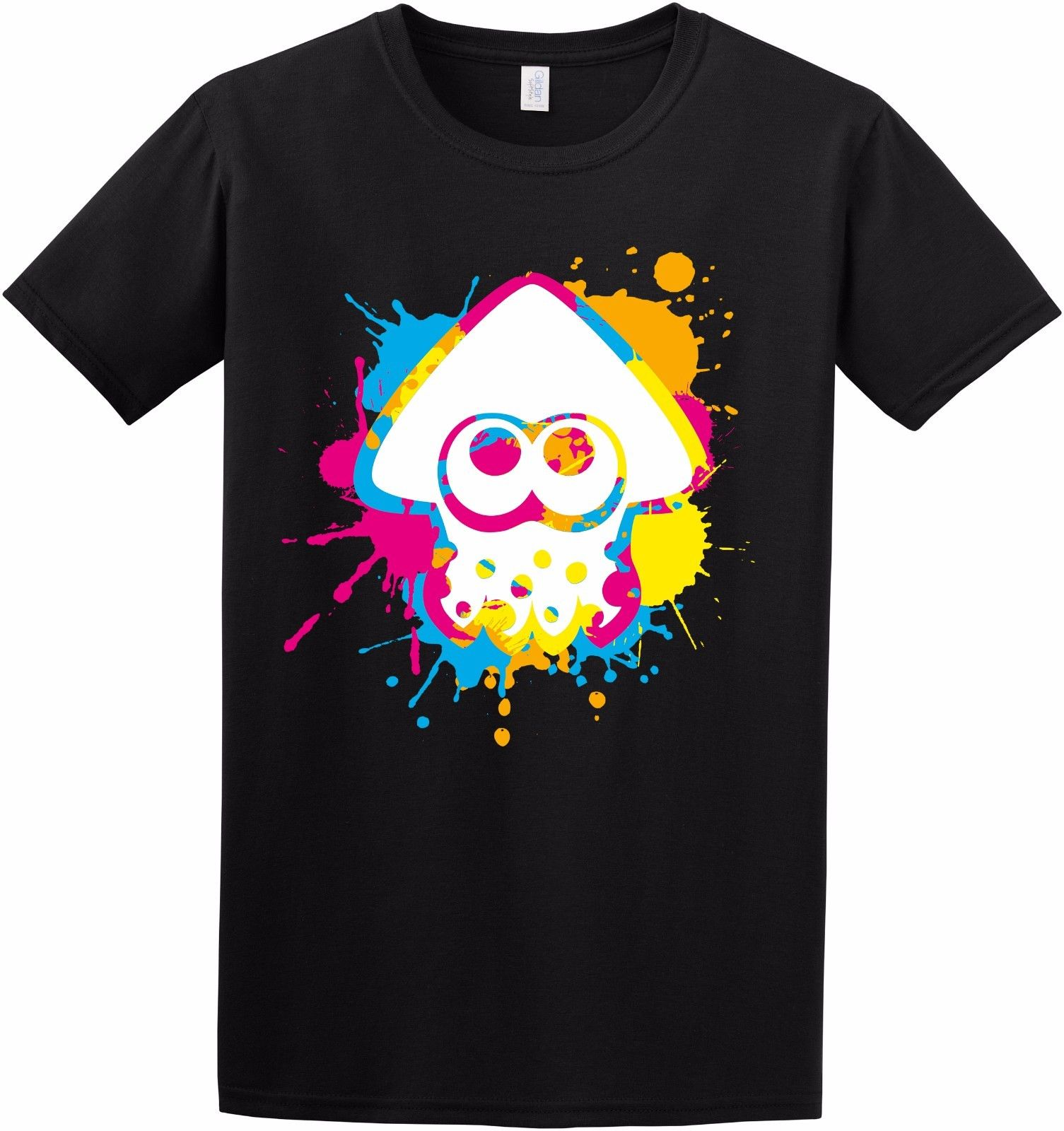 Inkling Colour Ink Splat Splatoon Squid Switch Game Inspired Kids Adult T-Shirt Tee Shirt Casual Short Sleeve