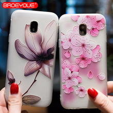 Flower Case For Samsung Galaxy J2 J3 J5 J7 A3 A5 A7 2016 2017 Prime 3D Relief Silicone TPU Cases Matte Phone Cases Back Cover все цены