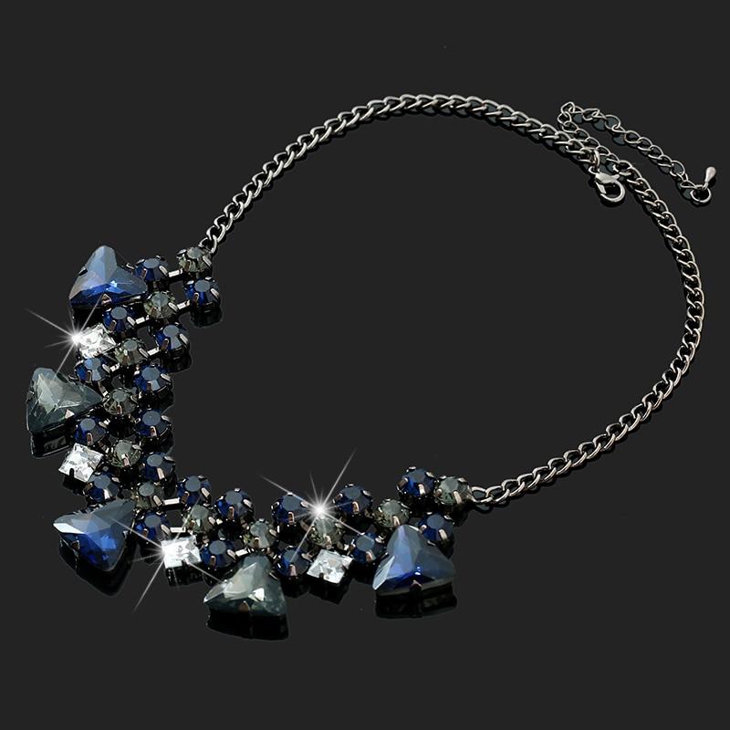 2017 Bohemian Style Chain Necklaces Fashion Crystal Pendant Necklaces For font b Women b font font