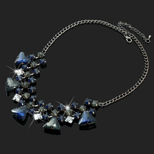 2017 Bohemian Style Chain Necklaces Fashion Crystal Pendant Necklaces For Women Jewlery Charming Choker Statement Necklaces