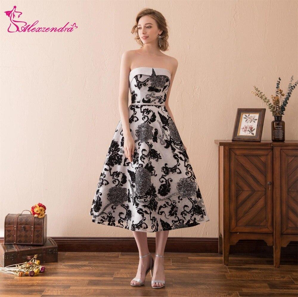 Alexzendra Stock robe imprimé fleurs bretelles pas cher robes de bal longueur cheville robes de fête spéciales