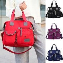 Женские нейлоновые Наплечные сумки большой емкости, водонепроницаемые сумки через плечо, повседневные женские сумки для путешествий