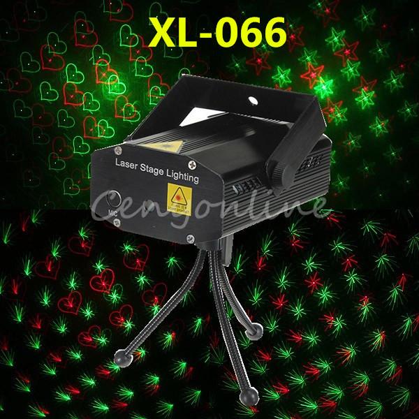 XL-066 4 Em 1 Mini Voz Controle Automático Luz Do Projetor A Laser iluminação Disco Party Xmas Stage Show Club Bar Estrela + Tripé