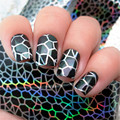 1pc Holographic Nail Foils Black Spider Web Nail Art Transfer Sticker Paper Glitter Foils Nail Art Transfer DIY Sticker