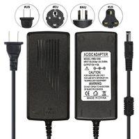 30 шт. DC 12 В 5A Мощность адаптер питания США ЕС AU Великобритания Plug AC конвертер трансформаторы для 5050 3528 WS2811 Светодиодные ленты модули освещени
