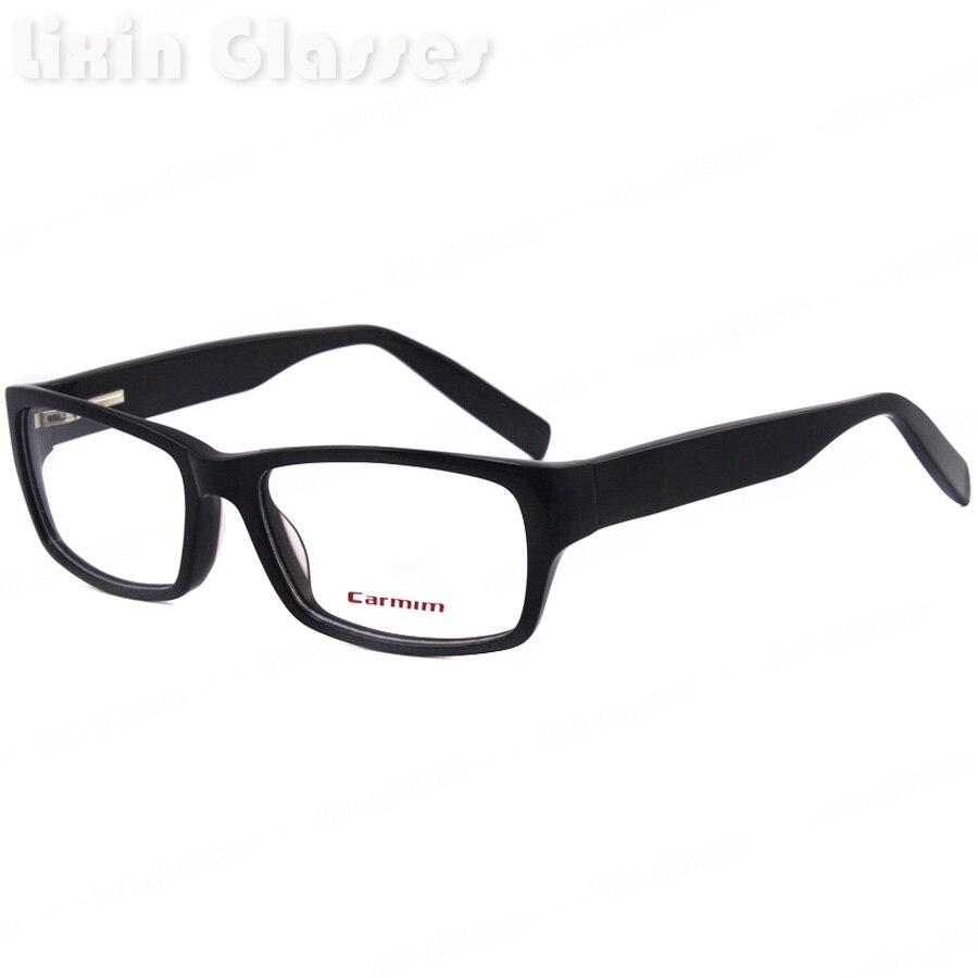Perna de Acetato Para Homens Óculos de Armação de Quadro preto Com Preto  A016 a65af7f9a3