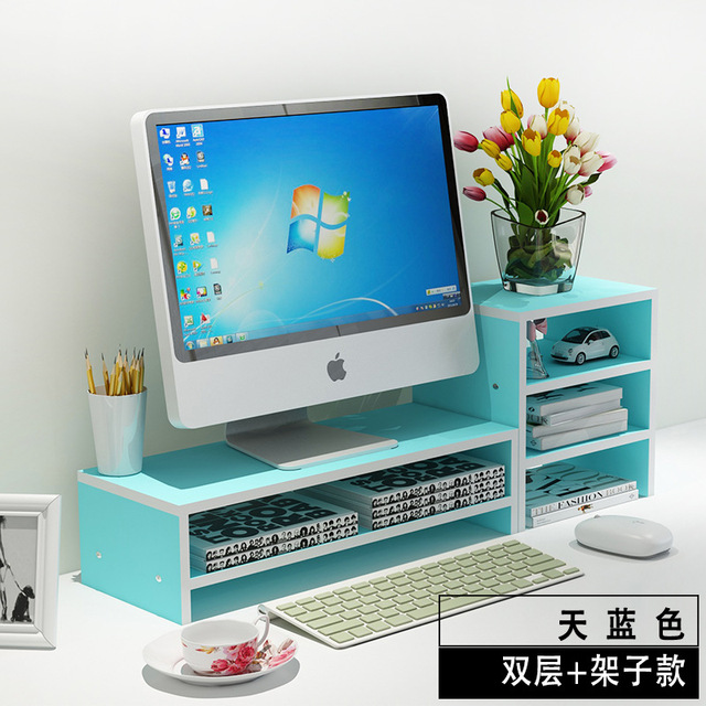 Necklace LCD Monitor Monitor Rack Mount Base Stand Table Keyboard Storage Baffle Set