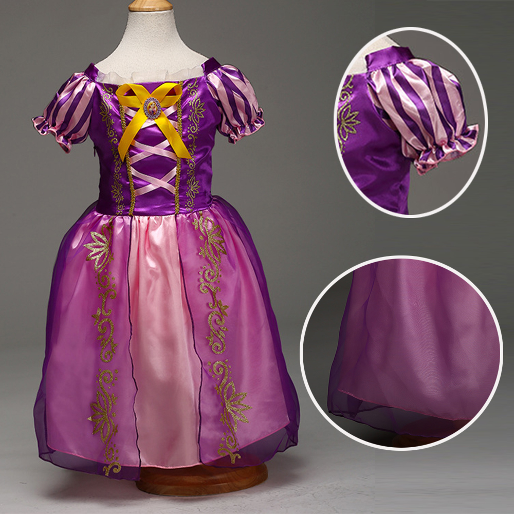Rapunzel Princess girl Kids Party Halloween Xmas Tangled Cosplay Costume Fantastic purple dress ems dhl free shipping toddler s little girl s tull dress princess birthday party masquerade rapunzel cosplay halloween wear