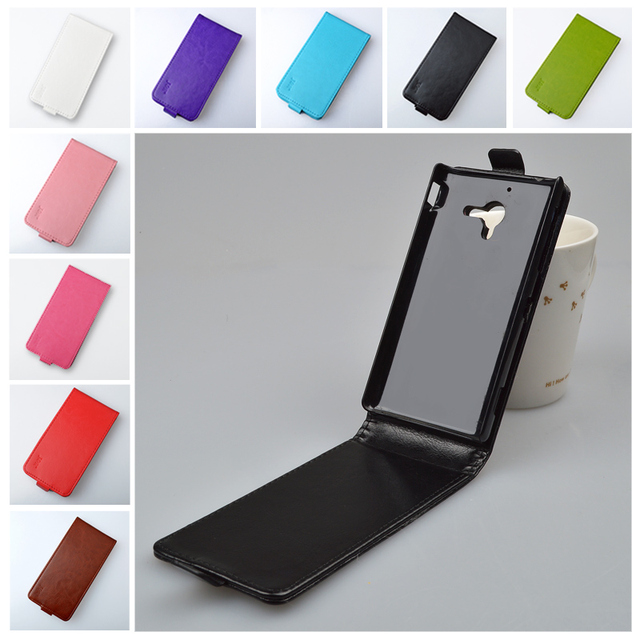 Flip PU Leather Case for Sony Xperia ZL L35h C6503 C6502 C6506 Cover Vertical Magnetic Phone Bag J&R Brand 9 colors