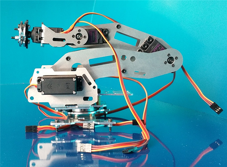 Industrial Robot 688 Mechanical Arm 100% Alloy Manipulator 6 Axis Robot arm Rack with 6 Servos
