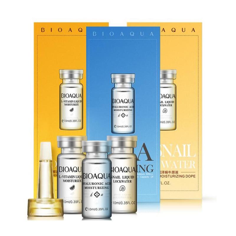 BIOAQUA Snail, L-Vitamin, Hyaluronic Acid Face Serum Skin Care Freshing Moisturizing Hydrating Face Care Serum