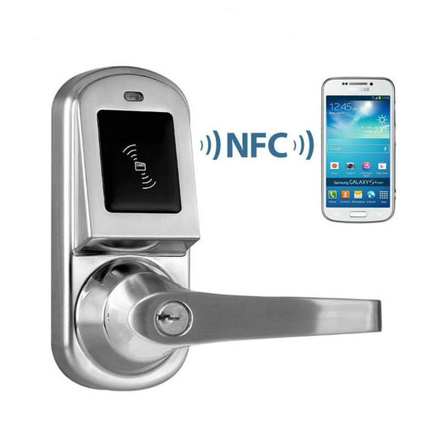 Exceptional DL1140 Remote Hotel Smart Door Locks NFC Door Lock Mobile Phone Android 4.0  System Control Electric