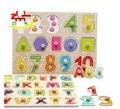 Auxiliares de ensino Montessori materiais crianças pré escolares de contagem placa de empilhamento Brinquedos de madeira de matemática painel Brinquedos W014