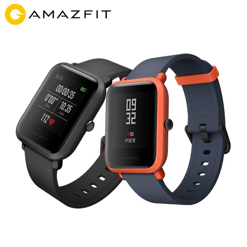 English Version Huami Amazfit Bip Smart Watch Always on Screen 32g Ultra Light IP68 Waterproof GPS