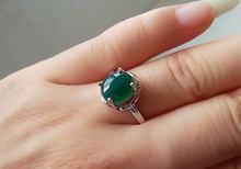 Женское кольцо в стиле халцедон lanzyo ювелирный камень из стерлингового