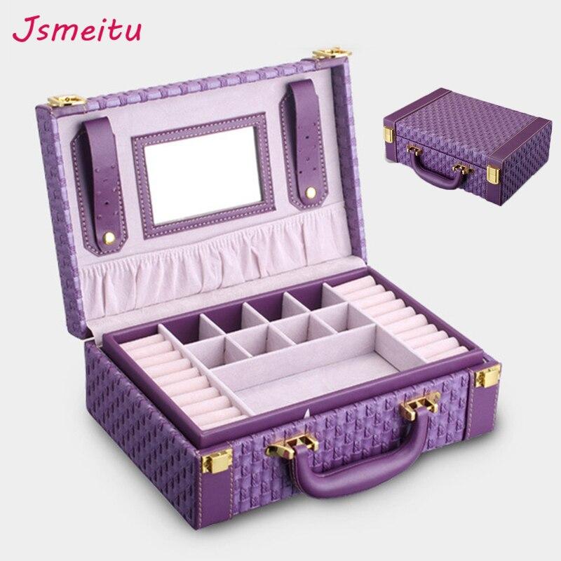 Velours de haute qualité boîtes à bijoux offre spéciale Multicouche Portable Multi-fonctionnelle Collier Anneaux Boîte De Mode Cadeaux Boîte JP-05
