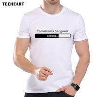 Tomorrow S Hangover Loading Bar Balck And White Funny Joke Men T Shirt Tee