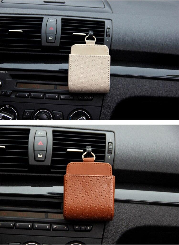 Car Leather Storge Basket - Mobile Holder, Organizer