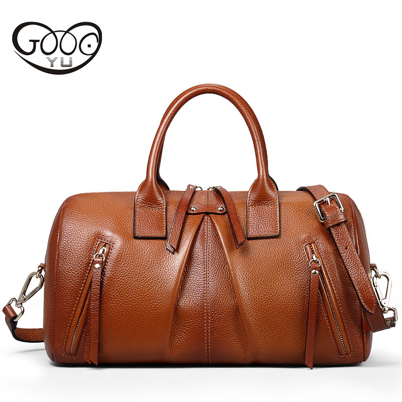 Europe and the United States style retro business women's first layer of leather pillow-type large-capacity portable Messenger b europe and the united states style first layer of leather lychee handbag fashion retro large capacity solid business travel bus