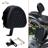 KOLEROADER Motorcycle Plug In Driver Backrest Pad Cushion Detachable Adjustable For Harley Fatboy Heritage Softail 2007 2017 /