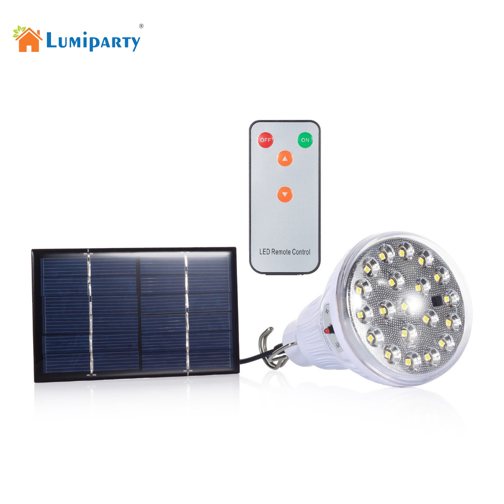 Lumiparty indoor dimmable dc6v 20 led 2 5w remote control solar light led light outdoor lamp 1w for Remote control exterior lights