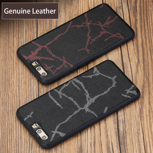 wangcangli Genuine Leather Phone Case For HUAWEI P10 P20 Pro Line Texture Back Cover Huawei Mate 9 10 Nova 2S  Plus Cases