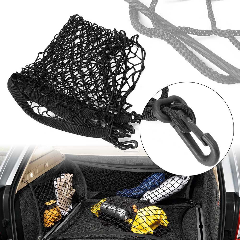 Автомобильный багажник, органайзер для хранения груза, Сетчатая Сумка, сетчатый держатель для багажа, автомобильные аксессуары для автозап...