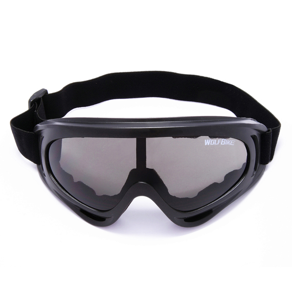 Windproof Outdoor Motorcycle Cycling PC Lens large Frame Glasses Skiing Eyewear Snowboarding Protective Goggles Anti-scratch