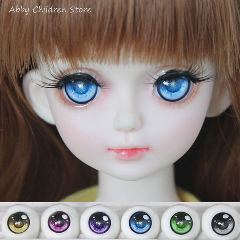 BJD SD Safety Doll Eyes For Cartoon Doll Accessories 1 Pair 1/3 1/4 1/6 14mm 16mm 18mm Acrylic Eyeball Eyes Toys For Girl  [a16] 1 3 1 4 1 6 bjd eyes 8mm 10mm 14mm 16mm metal acrylic eyeballs for sd msd ysd ball jointed doll