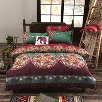 Bohemia 4 /3PCS 3D bedding sets Sham Boho Mandala duvet cover set winter bedsheet queen king size Cotton folk custom Bed set