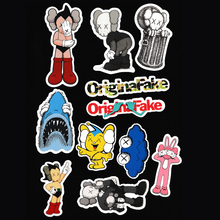 11pcs/bag kaws Original Fake JDM fashion Sticker For Car Laptop Bicycle Motorcycle Notebook Waterproof DIY skateboard Decal