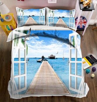 Luksusowe łóżka zestaw europejskiej 3D twin królowa kalifornii łóżko typu king size/płaski arkusz pościel zestaw narzuta na kołdrę poszewka na poduszkę dekoracje