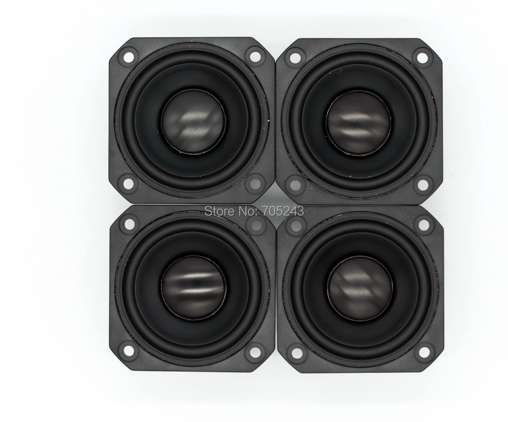 4pcs Melo David peerless P830985 2.5 inchaluminum cone fullrange speaker hifi av desk car audio