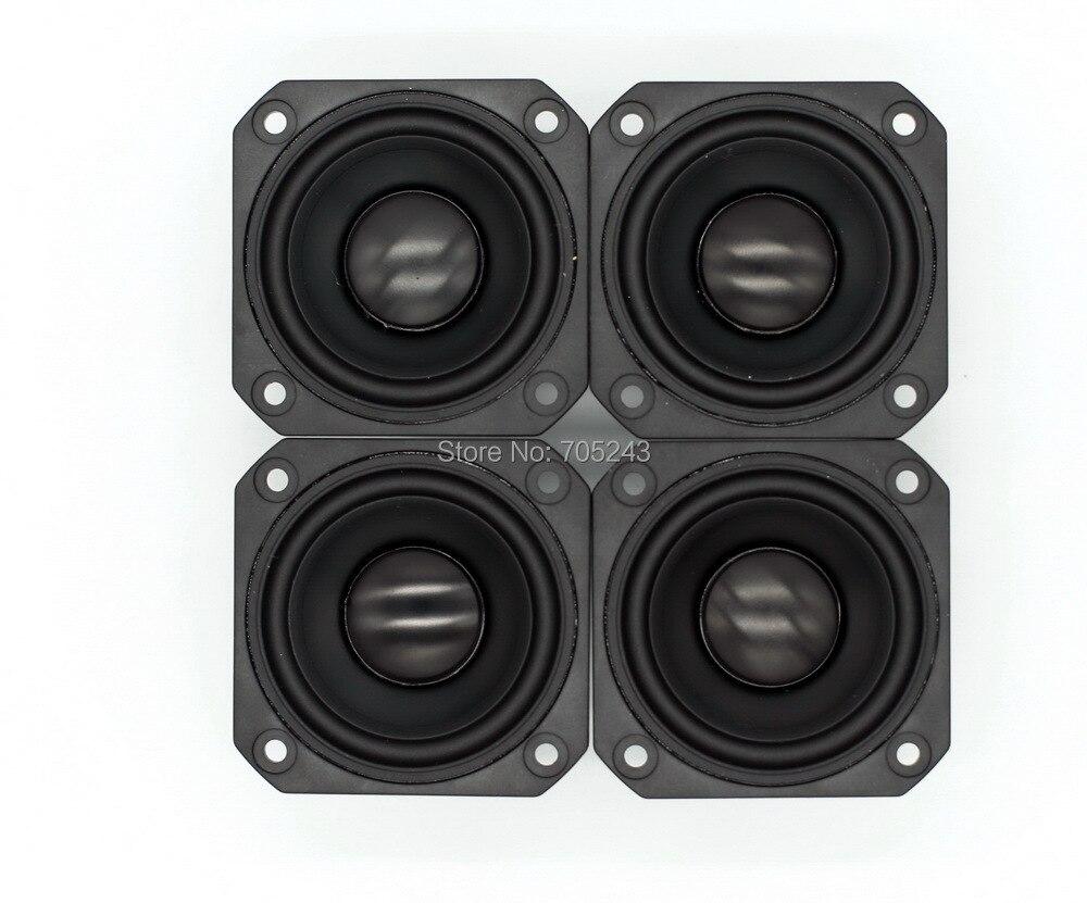 4pcs   peerless P830985  2.5 in chaluminum  cone  fullrange speaker  hifi  av desk car  audio
