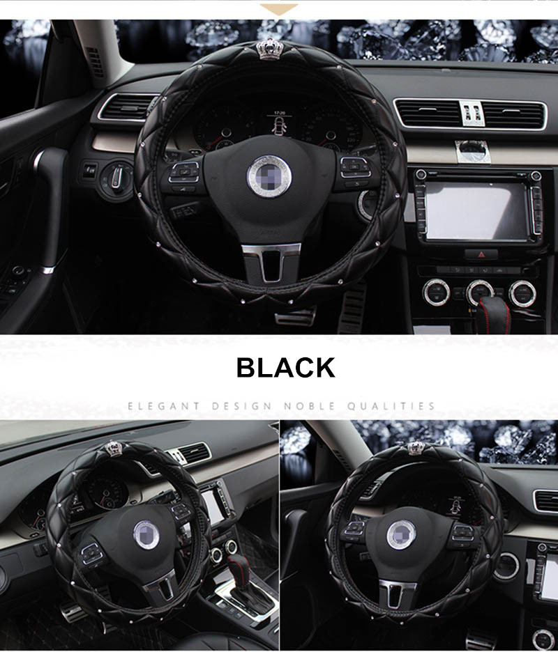 leather steering wheel cover 6