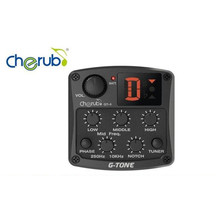 Cherub Acoustic Guitar Preamp GT-4 3 for Band EQ Pick-up for Folk Acoustic Guitar Stringed Instrument Accessory