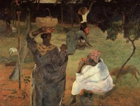 High quality Oil painting Canvas Reproductions Mango pickers (Martinique) (1887) by Paul Gauguin hand painted