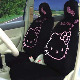 2015 new HELLO KITTY car seat cover four seasons general/express cartoon ( black ) - goodgoods store