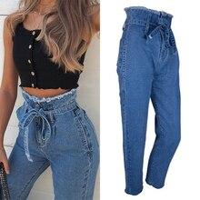 Women Jeans Loose Casual High Waist Cowboy Long Pants Denim Streetwear Long Pant