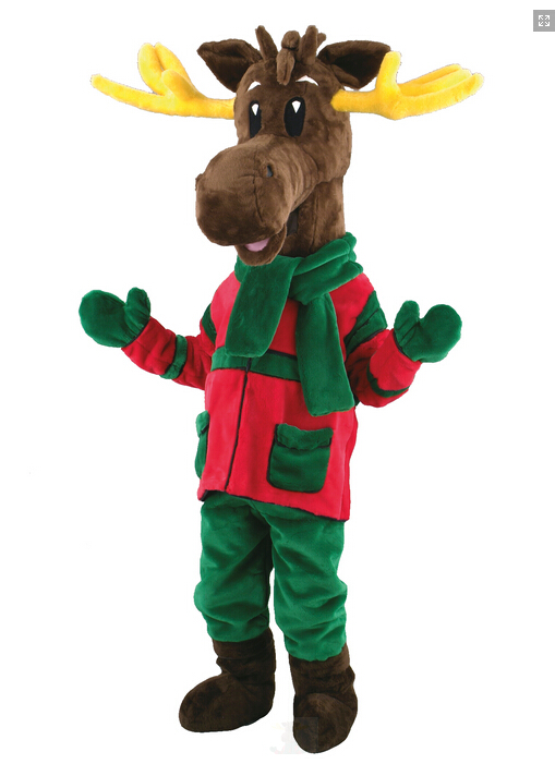Child Big Head Animal Mascot Reindeer Fancy Dress Costume Outfit Christmas Jumbo