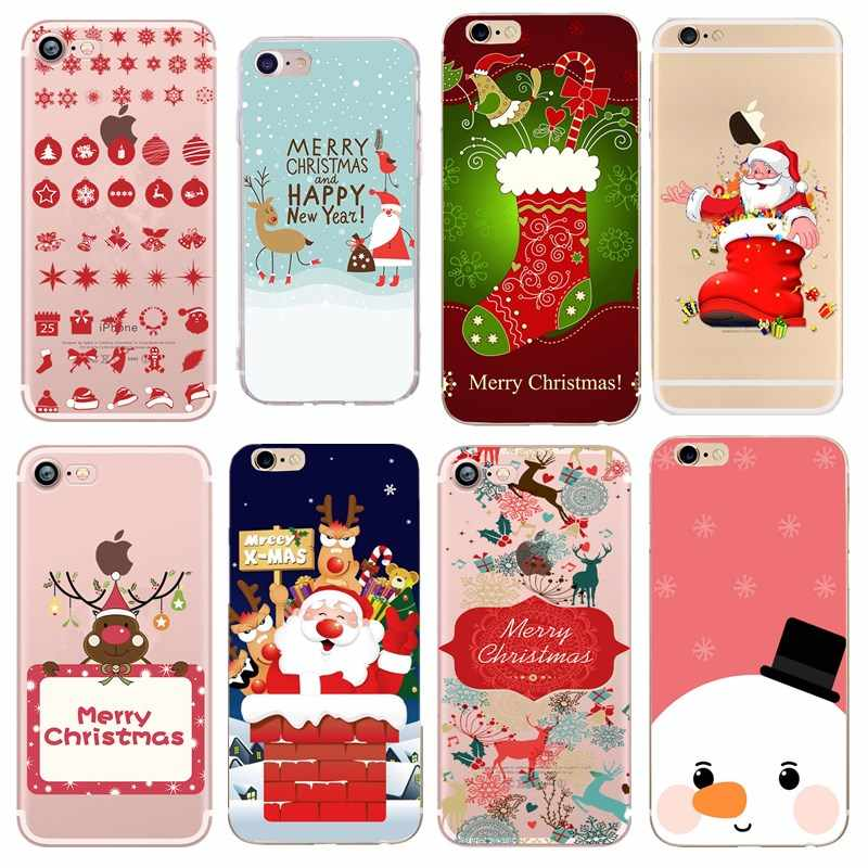 christmas accessories Cover For Iphone XS XR Max 7 8 Plus 6 6S 5S SE 5 Case Silicone Soft TPU Carcasa Case For iphone 7 8 6 S X