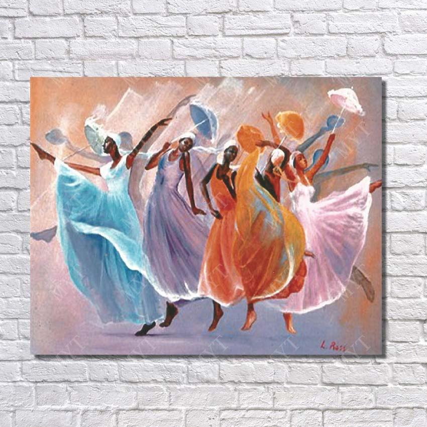Free Shipping African Women Oil Painting Living Room Wall