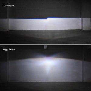 Image 5 - Lentille de projecteur au xénon HID, 2.5 pouces, avec masque argenté, yeux dange, Led H7 et H4, phares par prise H1, ampoule HID, LHD, RHD, décoration de voiture