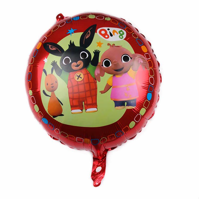 Big Bing Coelho Balão de alumínio Animal Dos Desenhos Animados Brinquedos Para Crianças Crianças Festa de Aniversário Decoração de Balões Globo Bola De Ar Junho 6