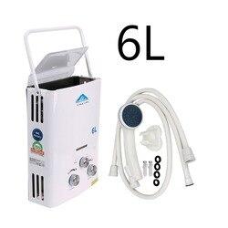 (Schiff von EU) Heißer verkauf 6L LPG Propan Gas Tankless Wasser Heizung Instant Boiler + Dusche Kopf